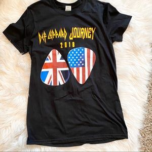 Def Leopard Journey Tour Tee TShirt Small 2018